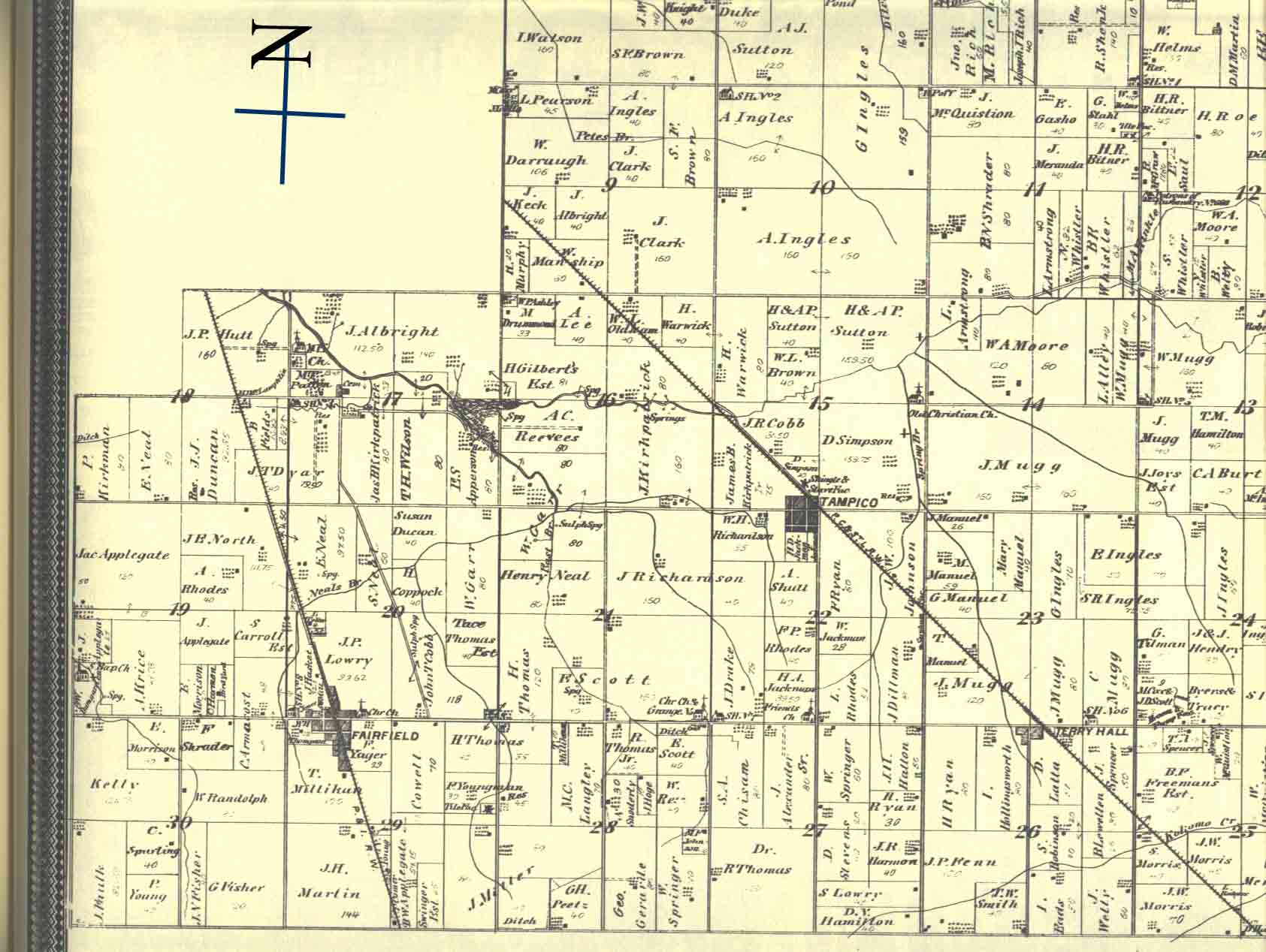 Howard County Indiana Map.The Other Fairfield